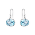 SAVANNAH earrings - sterling silver with blue topaz