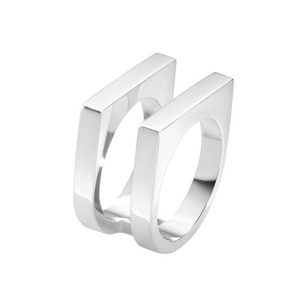 ARIA ring - two row, sterling silver
