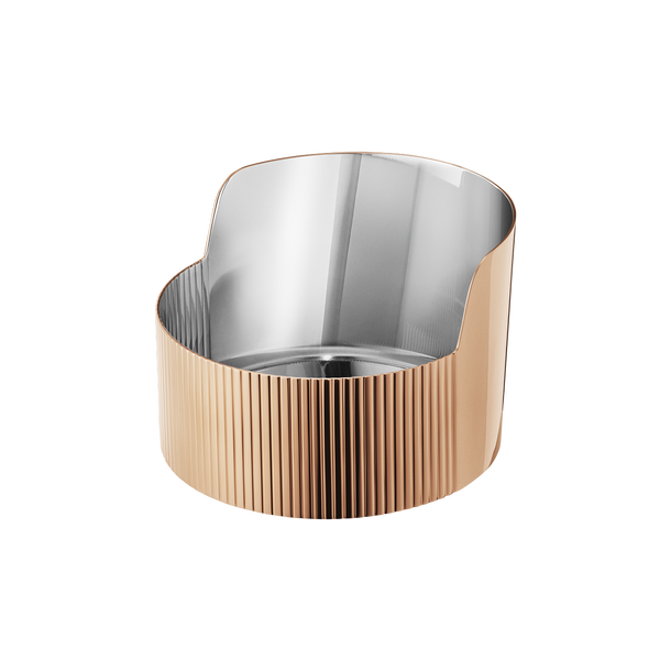 URKIOLA bowl, stainless steel and PVD, 11 cm