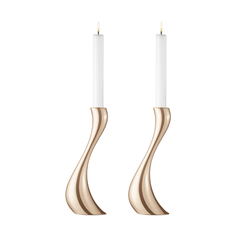 COBRA candleholder set - rose gold plated, large