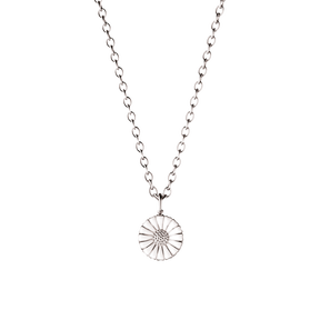 DAISY pendant - rhodinated sterling silver with enamel