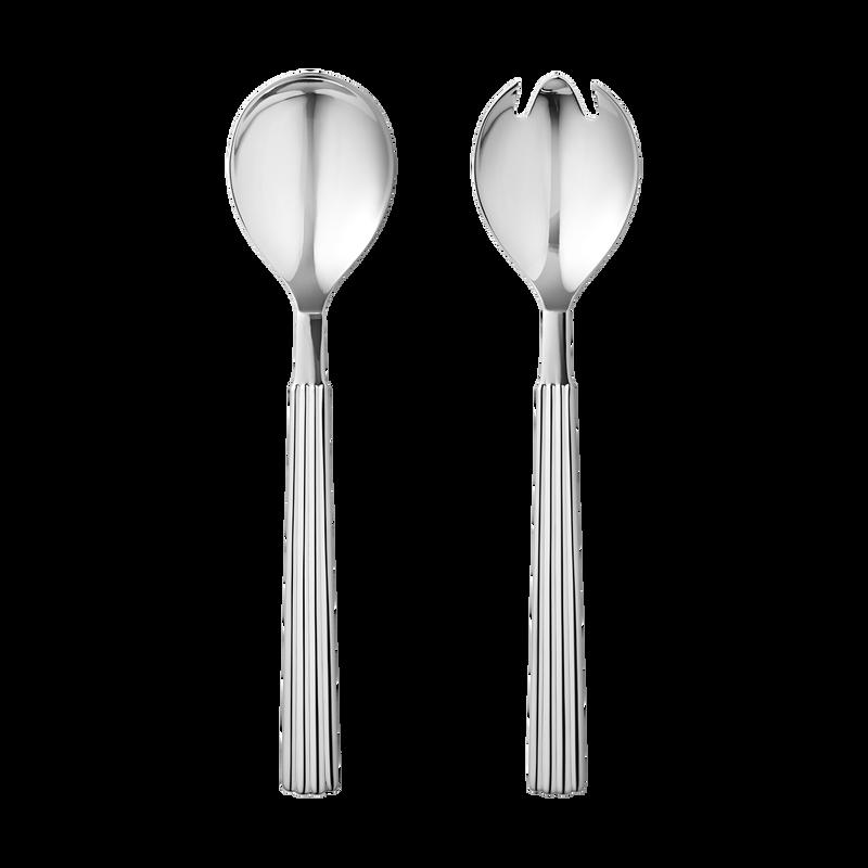 Moderne BERNADOTTE smukt salatsæt i rustfrit stål | Georg Jensen VK-16