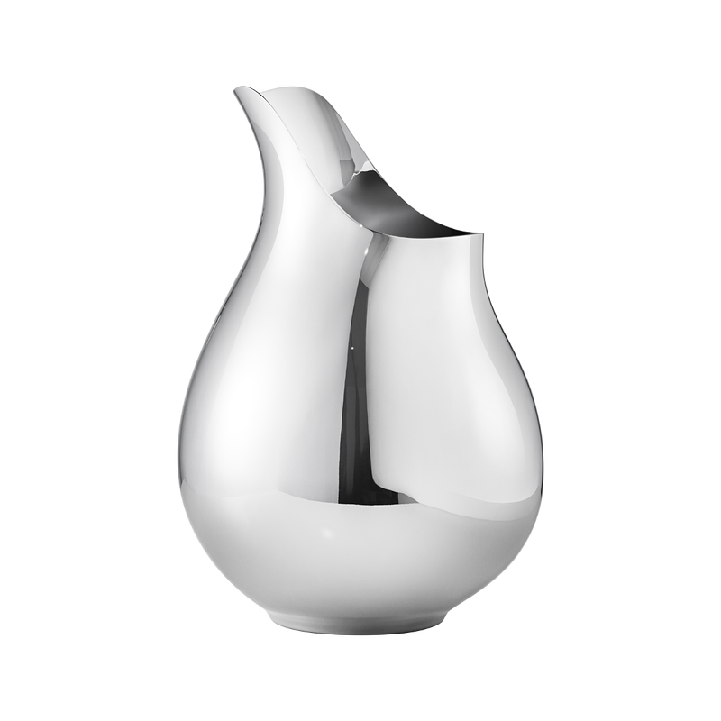 Ilse Elegant Sculptural Vase In Stainless Steel Georg Jensen