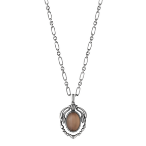 2014 HERITAGE pendant - oxidised sterling silver with smokey quartz