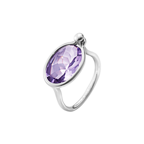 SAVANNAH ring - sterling silver with amethyst, medium