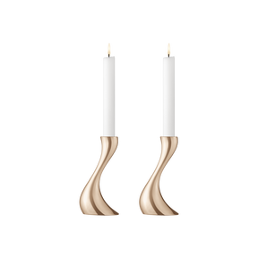 COBRA candleholder set - rose gold plated, small