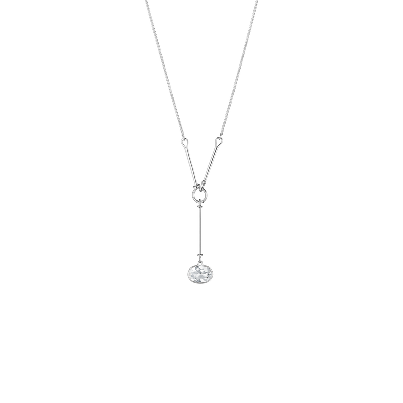 SAVANNAH pendant - sterling silver with rock crystal