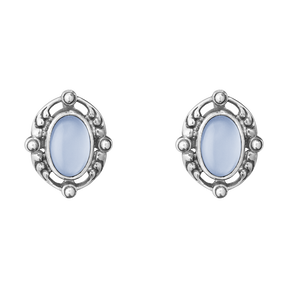 2018 HERITAGE earclips - sterling silver with blue chalcedony