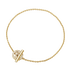 HALO bracelet - 18 kt. gold with brilliant cut diamonds