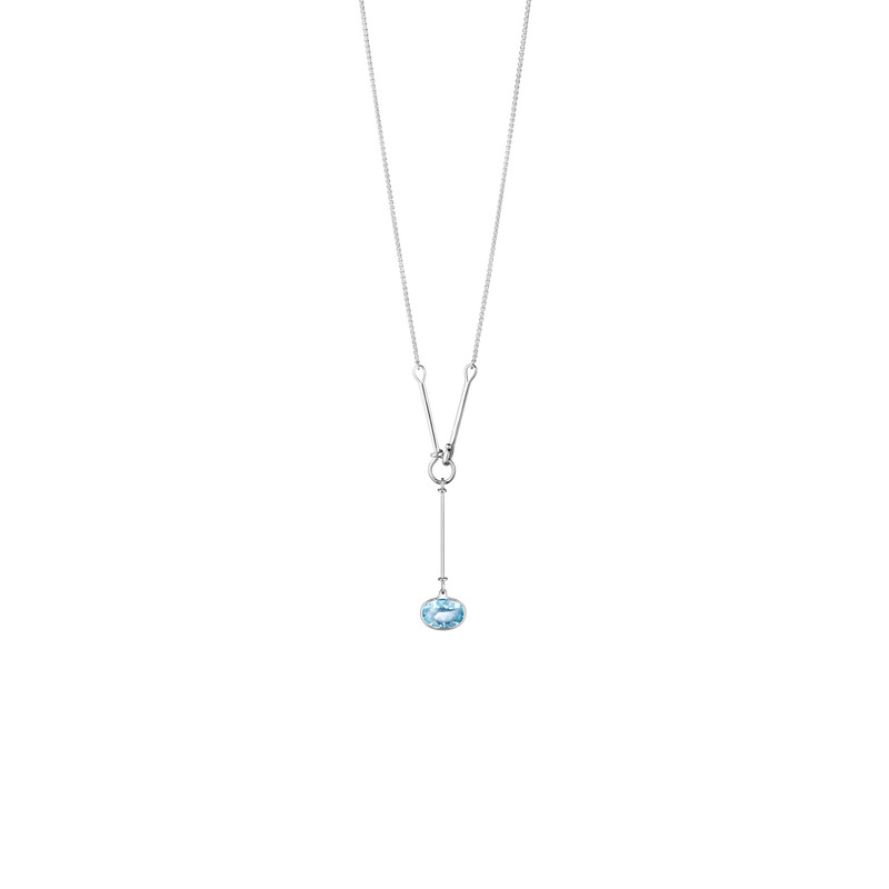 SAVANNAH pendant - sterling silver with blue topaz