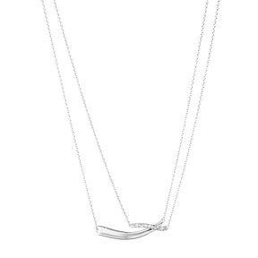 MARCIA pendant - sterling silver with brilliant cut diamonds