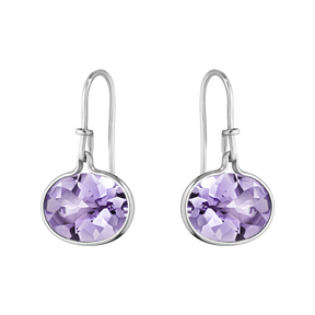 SAVANNAH earrings - sterling silver with amethyst