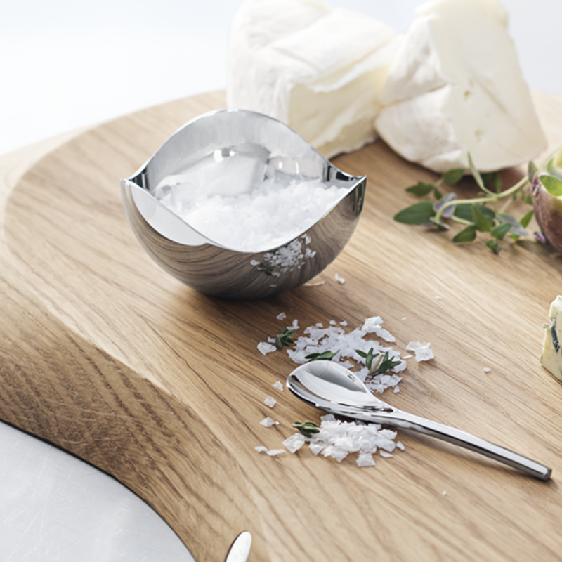 BLOOM salt cellar with spoon