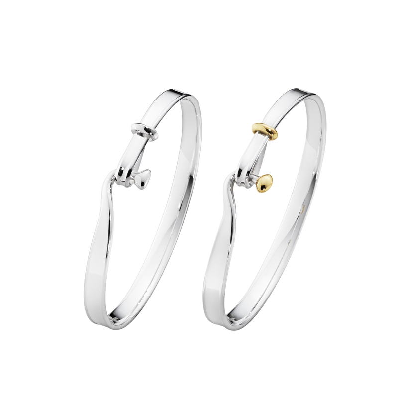 TORUN bangle set - sterling silver and 18 kt. yellow gold.