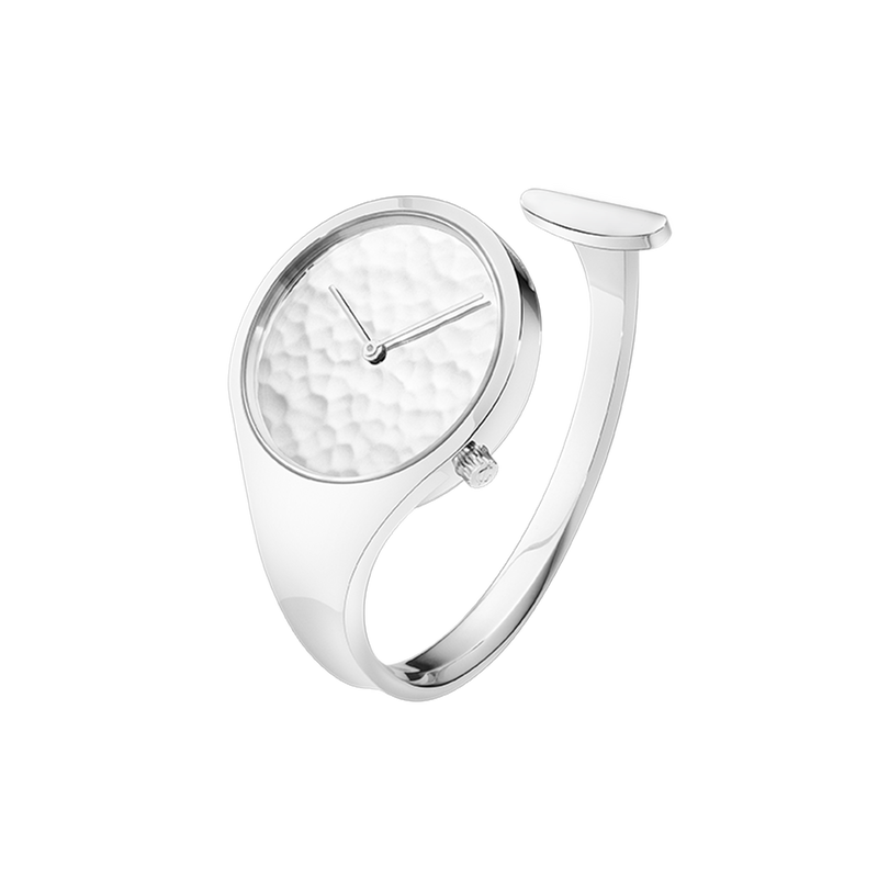 VIVIANNA - 34 mm, Quartz, hammered silver dial - limited edition