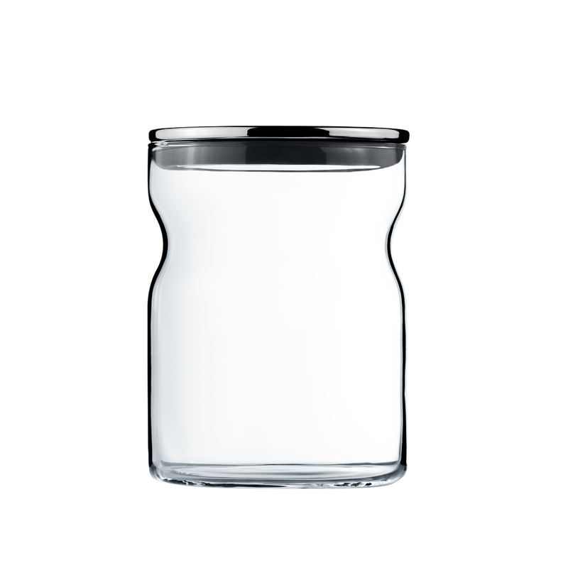 ALFREDO container glass 0,75l Ø100 stainless steel lid
