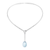 DEW DROP pendant - sterling silver with blue topaz and brilliant cut diamonds