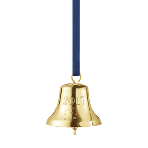 2017 Christmas Bell, gold plated