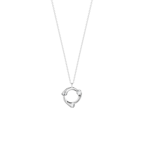 MAGIC pendant - 18 kt. white gold with diamonds