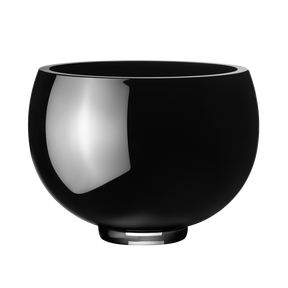 ILSE bowl - black glass, medium