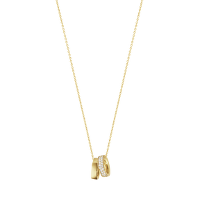MAGIC charm pendant - 18 kt yellow gold with diamonds