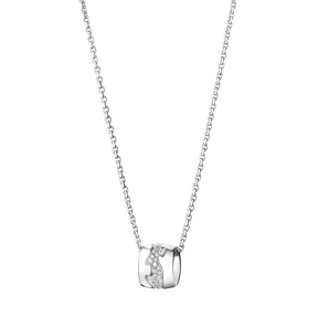 FUSION pendant - 18 kt. white gold with pavé set brilliants