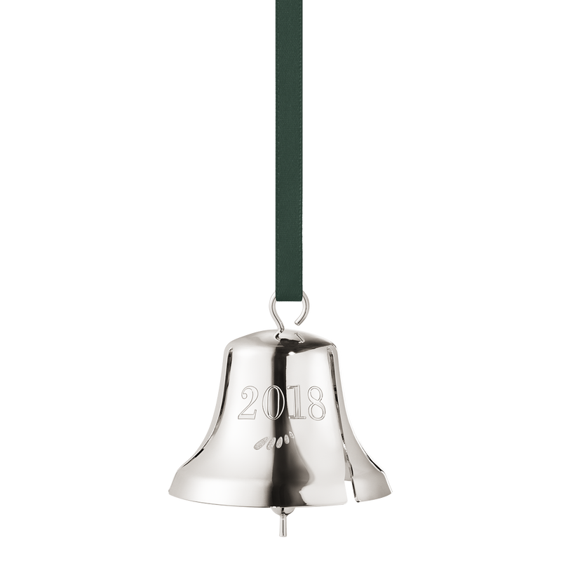 2018 Christmas Bell - palladium plated