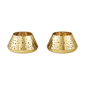 2017 tealight set, gold plated