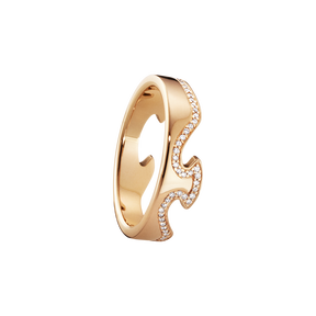 FUSION end ring - 18 kt. rose gold with brilliant cut diamonds
