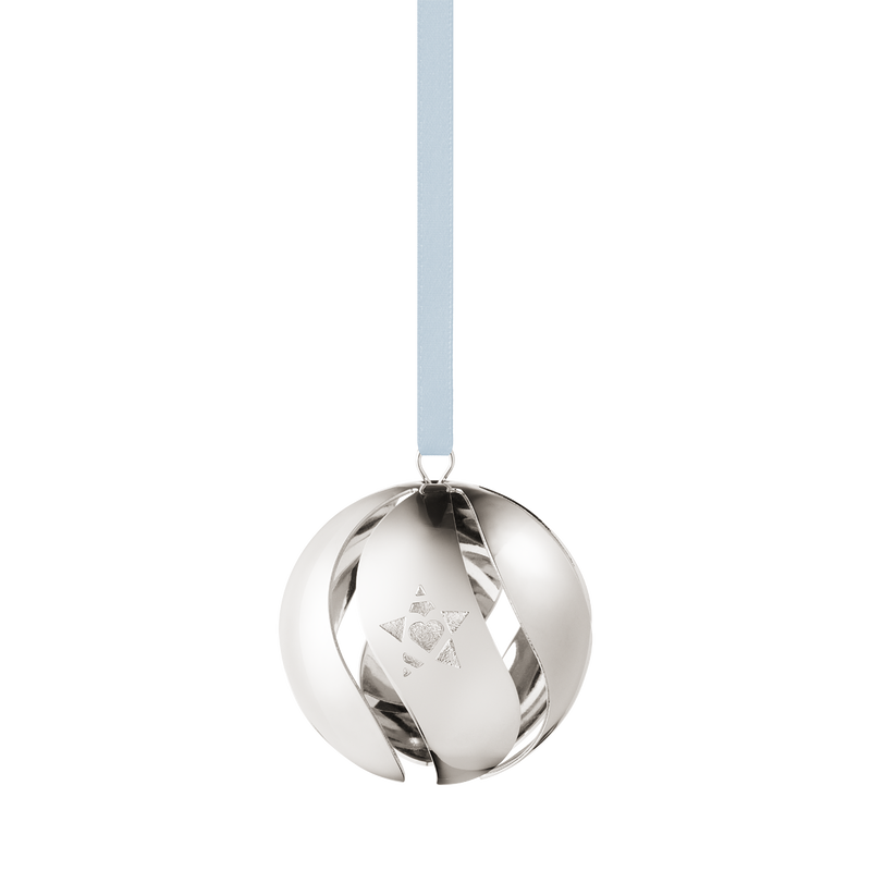 2019 Christmas Ball decoration - Palladium plated