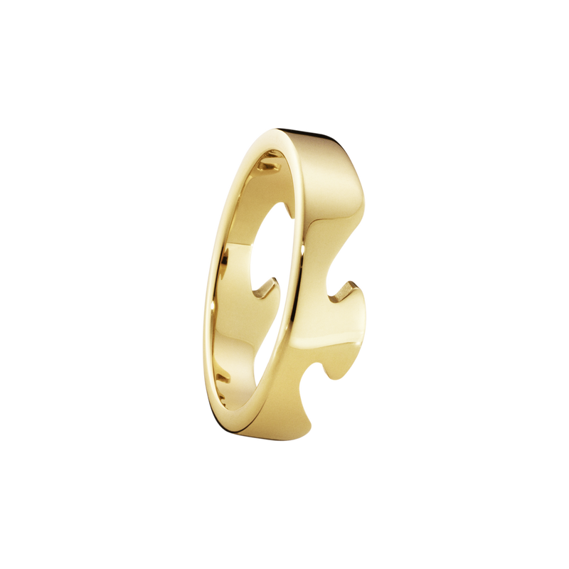 FUSION end ring - 18 kt. yellow gold