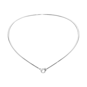 DEW DROP neck ring - sterling silver