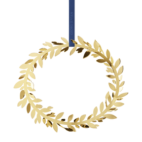 2017 wall wreath magnolia leaf, gold plated