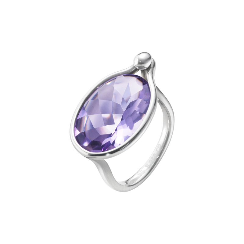 SAVANNAH ring - sterling silver with amethyst