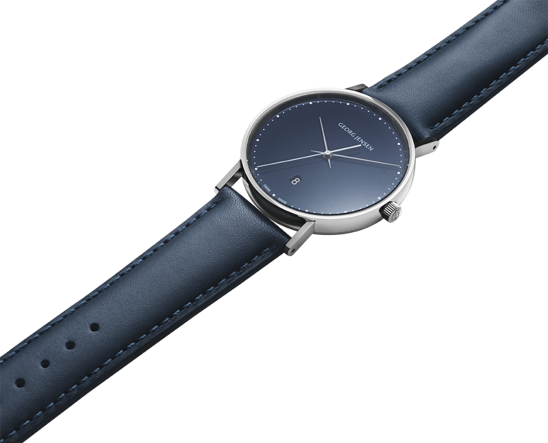 KOPPEL - 41 mm, Quartz, blue dial, blue leather strap