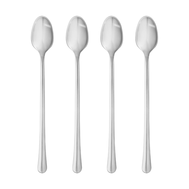 COPENHAGEN caffe latte spoon set - matte stainless steel, 4 pcs.