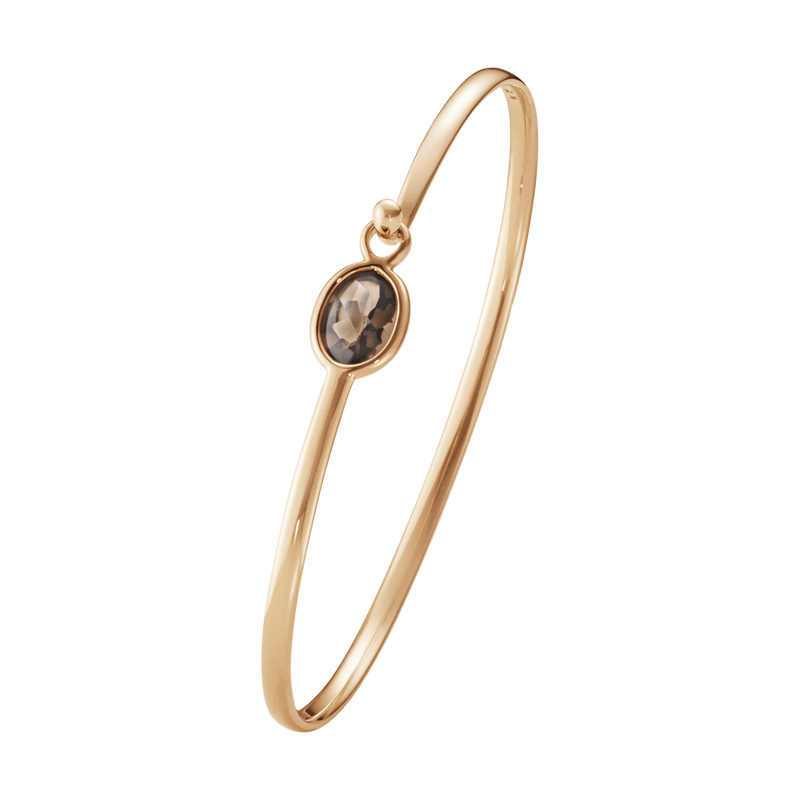SAVANNAH bangle - 18 kt. rose gold with smokey quartz