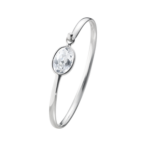 SAVANNAH bangle - sterling silver with rock crystal