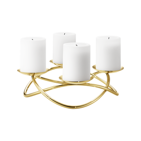 SEASON candleholder, large,  gold plated