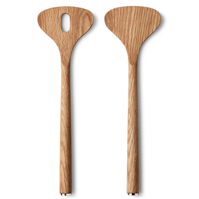 ALFREDO salad servers, oak wood