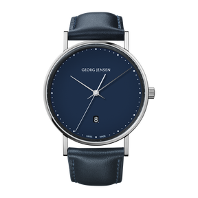 <p>KOPPEL - 41 mm, Quartz, blue dial, blue leather strap<br /><br /></p>