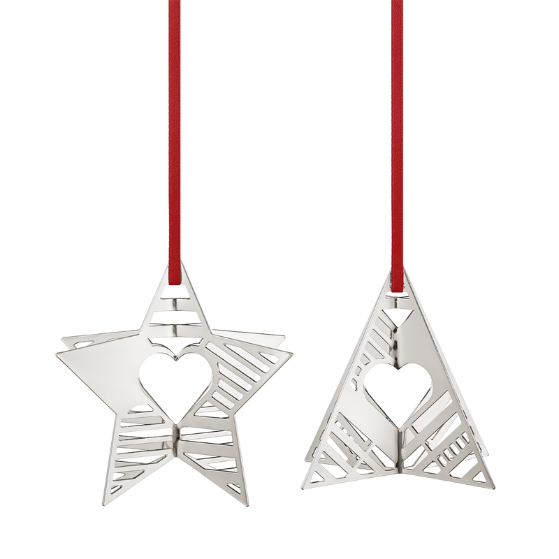 2019 Holiday Ornaments, Star and Tree