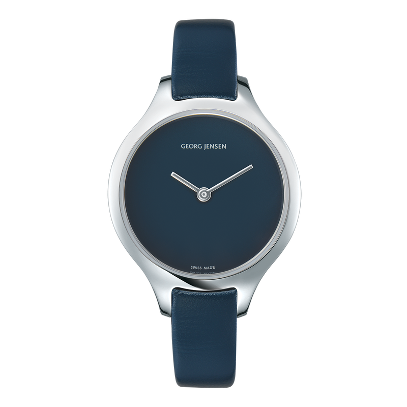 CONCAVE - 30 mm, Quartz, blue dial