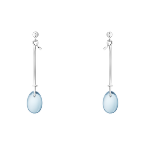 DEW DROP earrings - sterling silver with blue topaz
