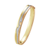 FUSION bangle – 18 kt. yellow gold, white gold, rose gold with centre pavé