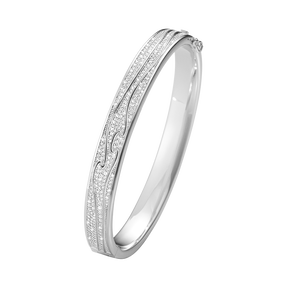 FUSION bangle – 18 kt. white gold with full pavé