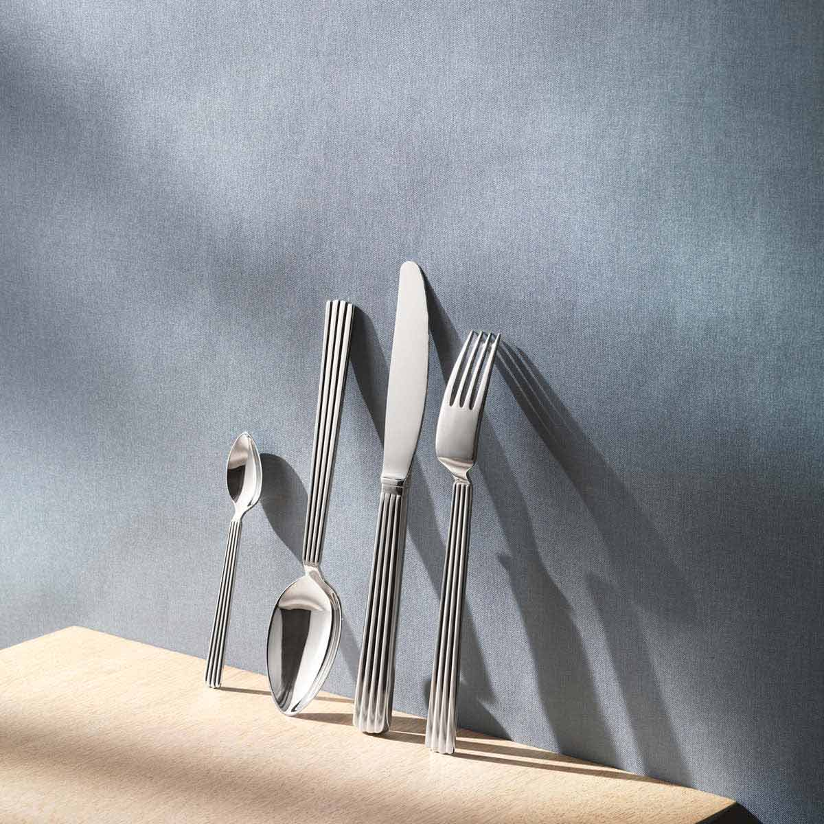 Bernadotte cutlery set in mirror-polished stainless steel