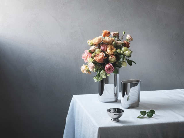 Manhattan vases and bowl (mirror-polished stainless steel)