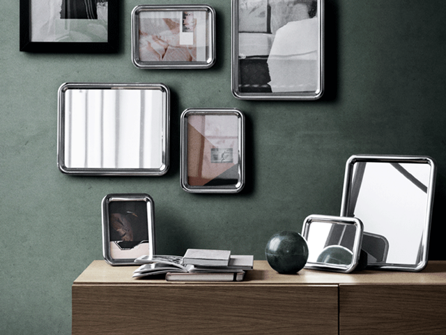 Tableau picture frames in extra small, small and medium and mirror in medium