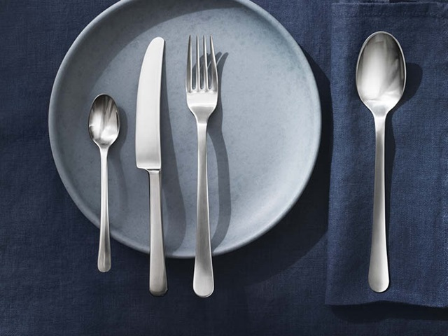 Copenhagen cutlery set in matte stainless steel
